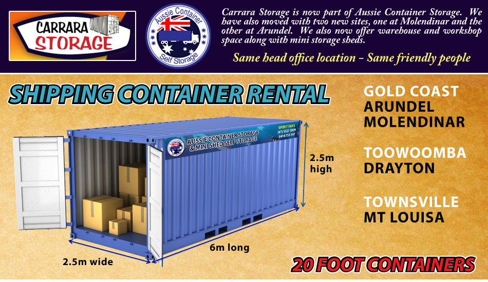 Carrara storage is now owned by Aussie Container Storage